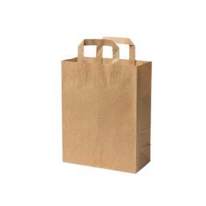 Papierová taška L | hnedá | 26x12x35cm | 250 ks